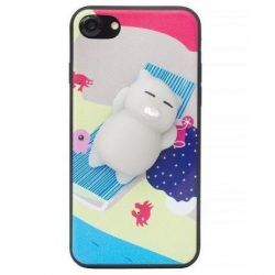 Capac de protectie Squishy 3D pentru iPhone 7 Plus / iPhone 8 Plus, model Motanel pe plaja